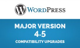 WordPress 4.5 Compatibility Upgrades